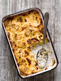 Rustic baked cauliflower cheese Stock Photo