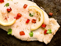 Rustic baked fish Royalty Free Stock Images