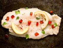 Rustic baked fish Royalty Free Stock Photo
