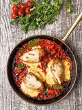 Rustic baked italian pollo margarita chicken Royalty Free Stock Photography