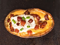 Rustic baked potato skin Stock Images