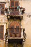 Rustic balcony Royalty Free Stock Photography