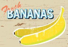 Rustic Bananas Sign Royalty Free Stock Images