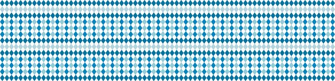 Rustic banner for Oktoberfest. Traditional white and blue rhombus pattern. Vector banner. Royalty Free Stock Image