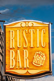 Rustic Bar Sign Royalty Free Stock Images