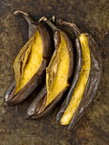 Rustic barbecued banana Royalty Free Stock Photos