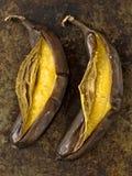 Rustic barbecued banana Royalty Free Stock Photo
