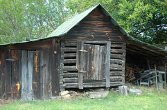 Rustic barn. Old barn on a farm in southern Virginia stock photos