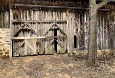 Rustic Barn Door Background Royalty Free Stock Images