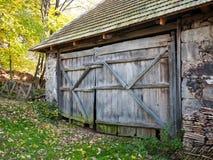 Rustic barn door Stock Images
