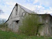 Rustic Barn Scene. Rustic, decaying barn scene in Mid-Springtime near Sparta, Tennessee stock image