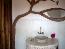 Rustic bathroom stock photo