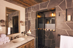 Rustic Bathroom Royalty Free Stock Photography