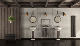 Classic bathroom with washbasin Royalty Free Stock Images