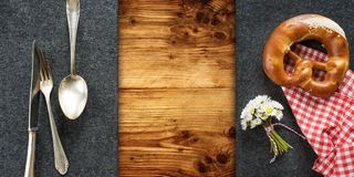 Rustic bavarian table decoration Stock Photography