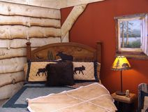 Rustic Bedroom. Country style bedroom Stock Photos