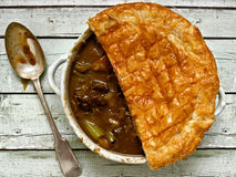 Rustic beef steak  potpie Royalty Free Stock Photo