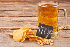 Rustic beer background. Royalty Free Stock Images