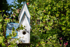 Rustic Birdhouse Royalty Free Stock Images