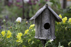 Rustic birdhouse Royalty Free Stock Photo