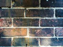 Rustic Black Patina Bricks Royalty Free Stock Photography