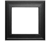 Rustic black photo frame Royalty Free Stock Image