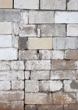 Rustic Block Wall with Fading White Paint Royalty Free Stock Photos