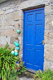 Rustic blue door Stock Photo