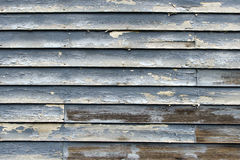 Rustic Blue Painted Wooden Backround Stock Image
