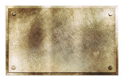 Rustic brass metal sign texture Stock Images