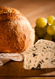 Rustic Bread With Cheese Stock Photo
