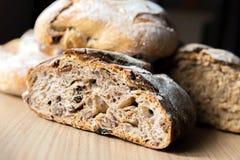 Rustic bread closeup Stock Images