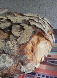 Rustic bread. Closeup of rustic fresh bread made in Italian countryside Stock Photo