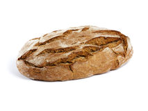 Rustic bread isolated on white Stock Photography