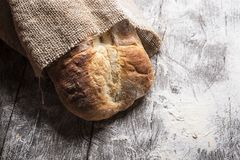 Breadf on dark background Royalty Free Stock Images