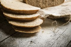 Bread  on the old board Royalty Free Stock Images