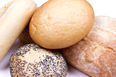 Rustic bread roles Stock Photos