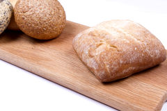 Rustic bread roles Royalty Free Stock Images