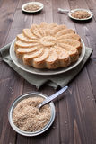 Rustic bread with sesame seeds Stock Image