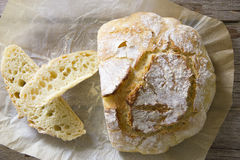 Rustic Bread. Sliced homemade rustic bread loaf Royalty Free Stock Image