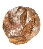 Rustic bread. Rustic sourdough bread isolated on white Royalty Free Stock Images