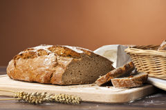 Rustic bread still life Royalty Free Stock Photos