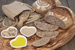 Rustic Bread Still Life Stock Photos
