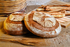 Rustic bread Stock Images