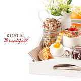 Rustic breakfast. Royalty Free Stock Images