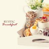 Rustic breakfast. Royalty Free Stock Image