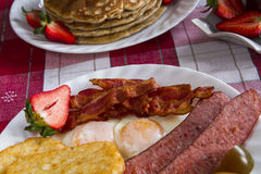 Rustic Breakfast close up Stock Images