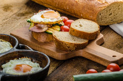 Rustic breakfast Stock Photography