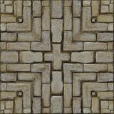 Rustic Brick Mosaic Pattern Royalty Free Stock Photography