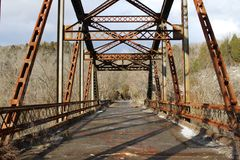 Rustic bridge Royalty Free Stock Photos